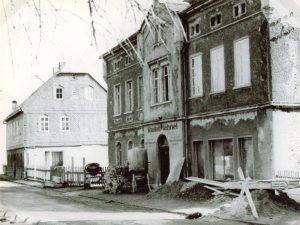 Ansicht Bäckerei Vieweger Grünhainichen im Jahr 1976