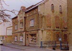 Aussenansicht der Bäckerei Vieweger vor Renovierung 1991