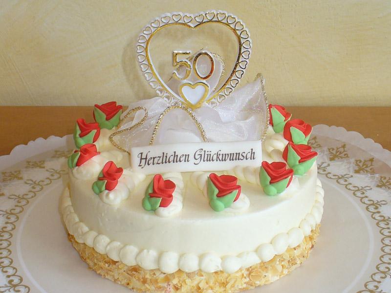 50. Geburtstagstorte aus Buttercreme