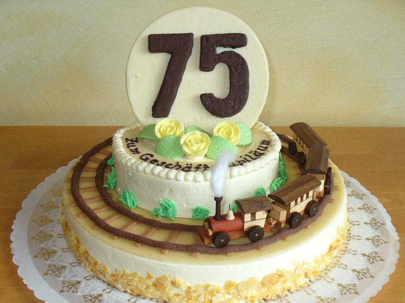 Buttercremetorte zum 75. Geschäftsjubiläum