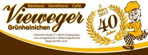 Banner - 40 Jahre Bäckerei, Konditorei und Café Vieweger in Grünhainichen