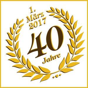 Logo - 40 Jahre Bäckerei Vieweger Grünhainichen