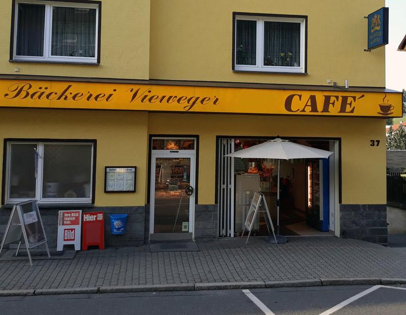 Bäckerei Vieweger - Malerarbeiten Ladenzeile Aussenansicht 2018