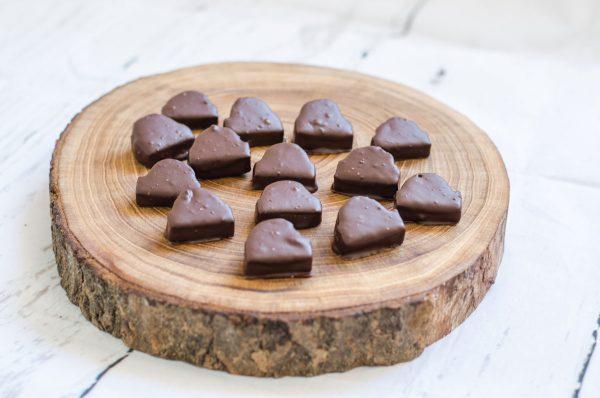 Baumkuchenecken mit dunkler Kuvertüre
