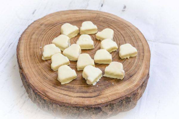 Baumkuchenecken mit weißer Kuvertüre