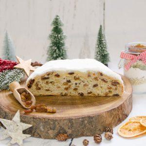 Butter-Rosinenstollen - Hausmacher-Art - gestrichen halb