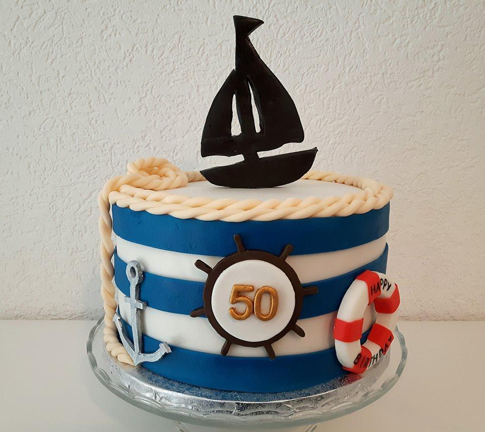 Thementorte von Einzelstücke - 50 Geburtstagstorte
