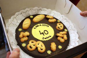 Geburtstagstorte - Jubiläum 40-Jahre Bäckerei Vieweger
