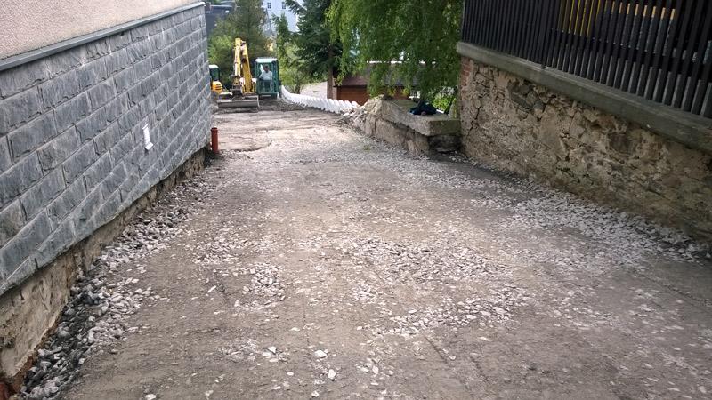 2014 Straßenrarbeiten - Parkplatz Bäckerei Vieweger Grünhainichen